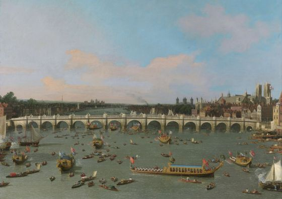 Canaletto: Westminster Bridge, with the Lord Mayor's Procession. Fine Art Print/Poster (5044)